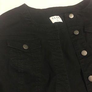 Elle Kohl's Black Jean Jacket in XL